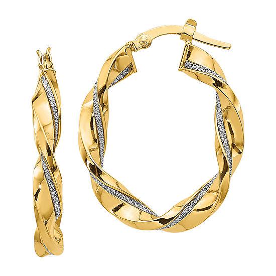 Made in Italy 14K Gold 30mm Hoop Earrings
