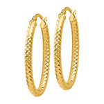 Made in Italy 14K Gold 32mm Hoop Earrings