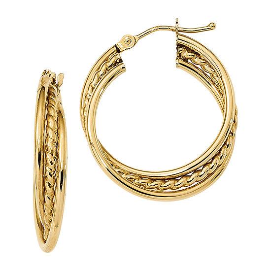 Made in Italy 14K Gold 25.8mm Hoop Earrings