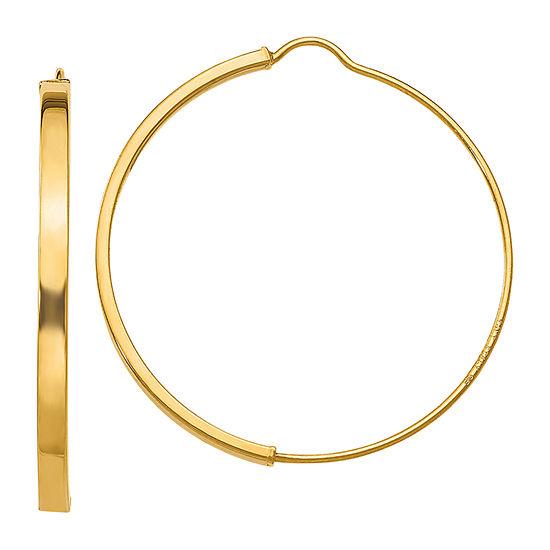 Made in Italy 14K Gold 27.2mm Hoop Earrings
