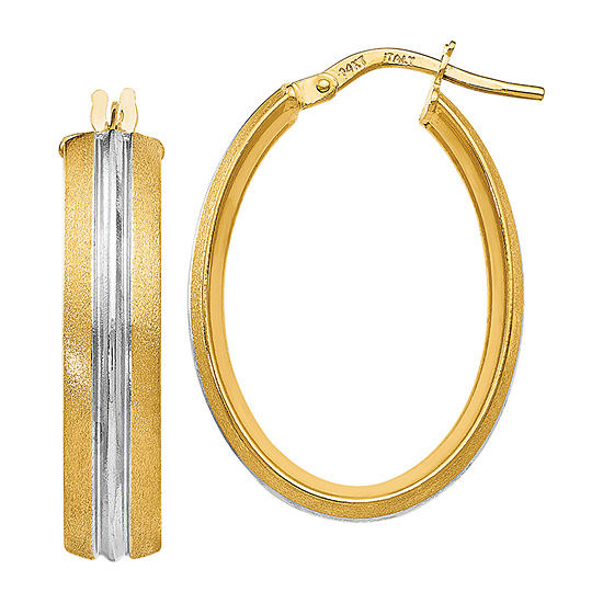 Made In Italy 14k Gold 277mm Hoop Earrings