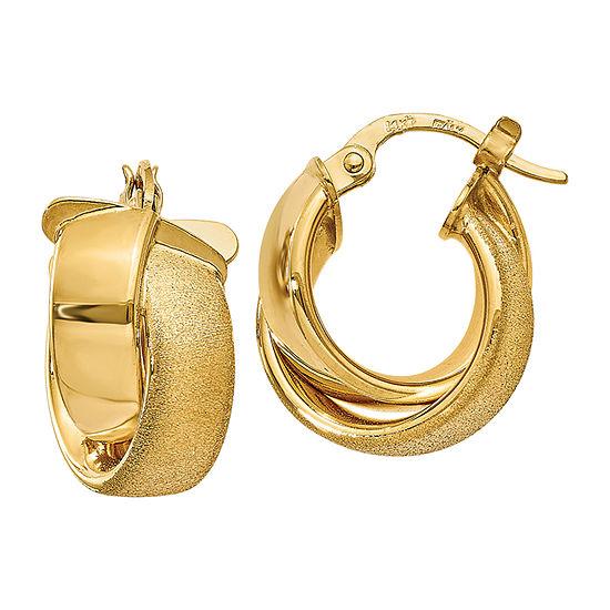 Made In Italy 14k Gold 175mm Hoop Earrings