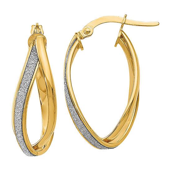 Made in Italy 14K Gold 27mm Hoop Earrings