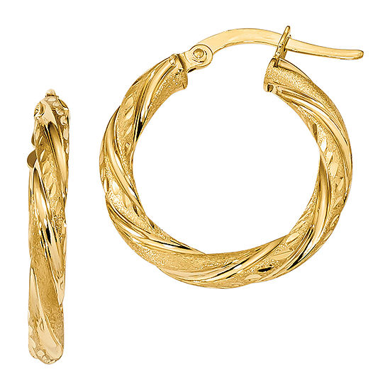 Made in Italy 14K Gold 22.9mm Hoop Earrings