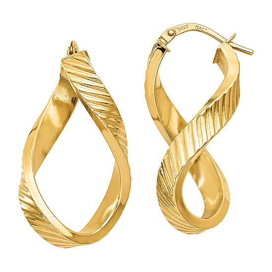 Made in Italy 14K Gold 38mm Oval Hoop Earrings