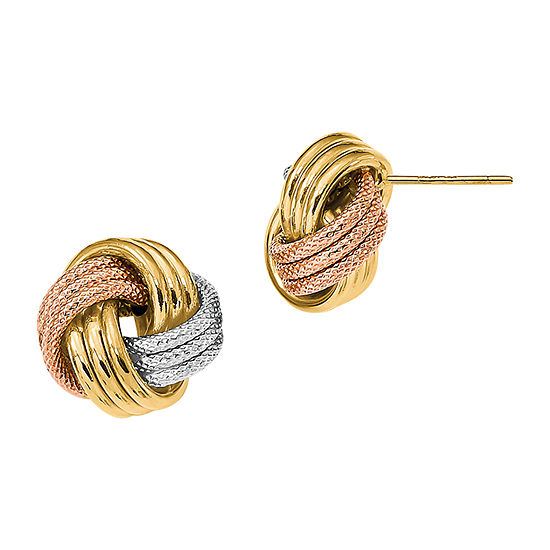 Made in Italy 14K Gold 12.5mm Stud Earrings