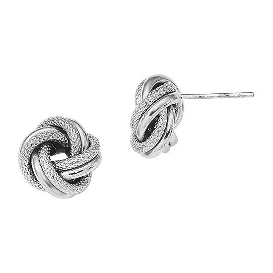 Made in Italy 14K White Gold 10mm Stud Earrings