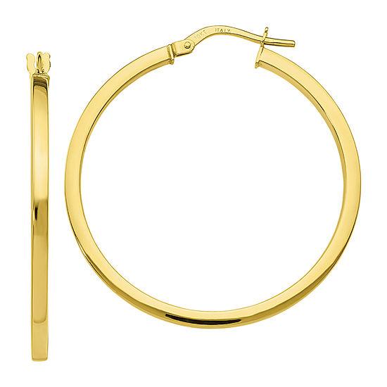 Made in Italy 10K Gold 34mm Hoop Earrings