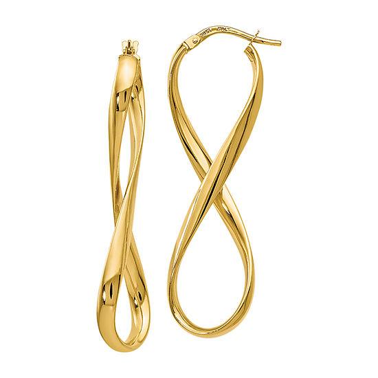 Made in Italy 14K Gold 46mm Hoop Earrings