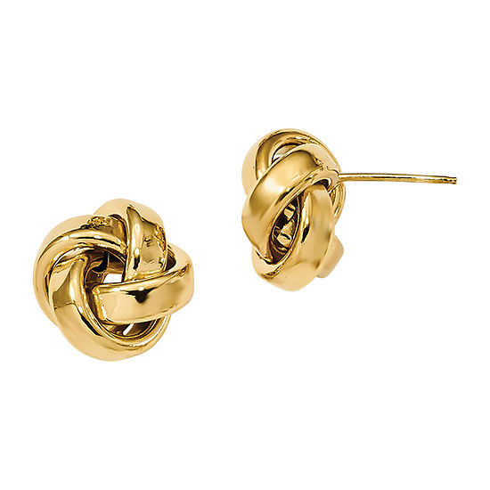 Made in Italy 14K Gold 12mm Stud Earrings