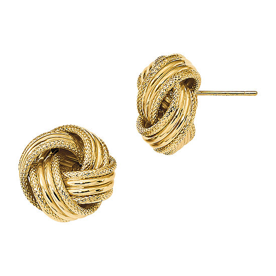 Made in Italy 14K Gold 14mm Knot Stud Earrings