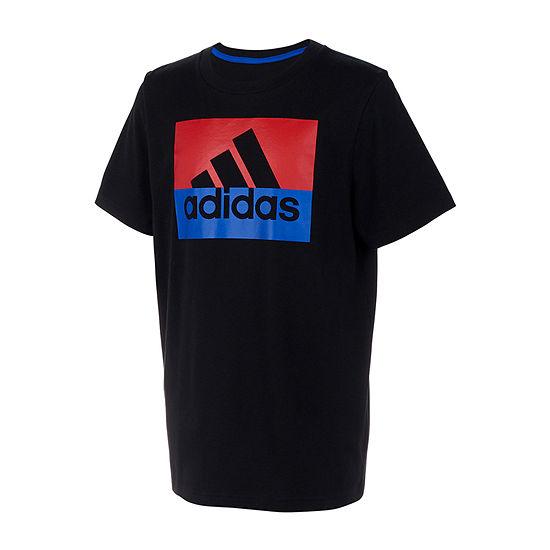 adidas Crew Neck Short Sleeve Graphic T-Shirt Preschool Boys
