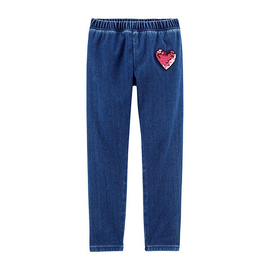 Oshkosh Girls Skinny Pull-On Pants - Preschool / Big Kid