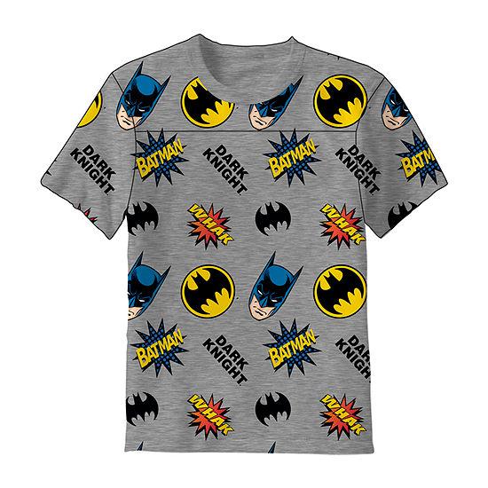 Little & Big Boys Crew Neck Batman Short Sleeve Graphic T-Shirt