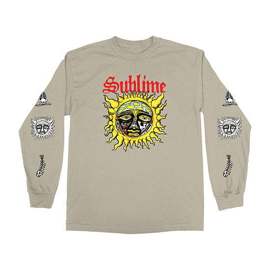 Sublime Mens Crew Neck Long Sleeve Music Graphic T-Shirt