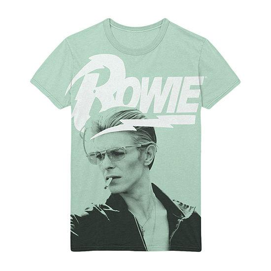 David Bowie Mens Crew Neck Short Sleeve Music Graphic T-Shirt