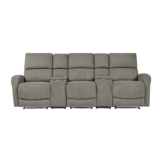 Estes 3 Seat Recliner with 2 Power Storage Consoles