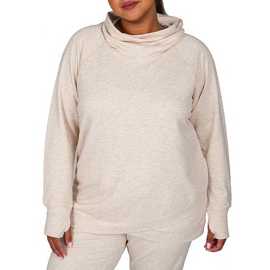 Jacques Moret-Plus Jockey Active Womens Long Sleeve Fleece Hoodie