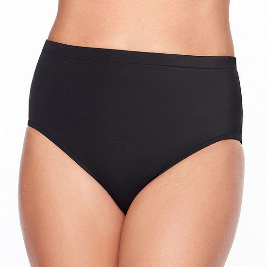 Vanishing Act By Magic Brands Slimming Control High Waist Bikini Swimsuit Bottom