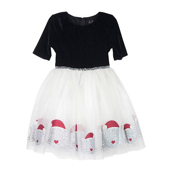 Lilt Elbow Sleeve Party Dress - Preschool / Big Kid Girls
