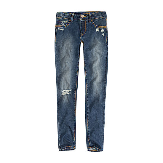 Levi's Big Girls 710 Ripped Skinny Fit Jean