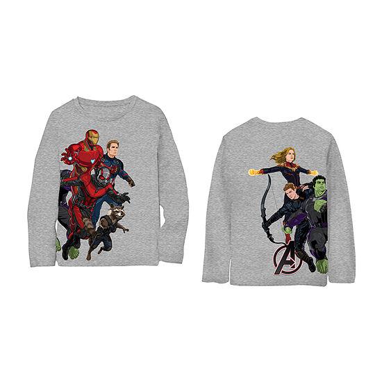 Boys Crew Neck Long Sleeve Avengers T-Shirt Preschool / Big Kid