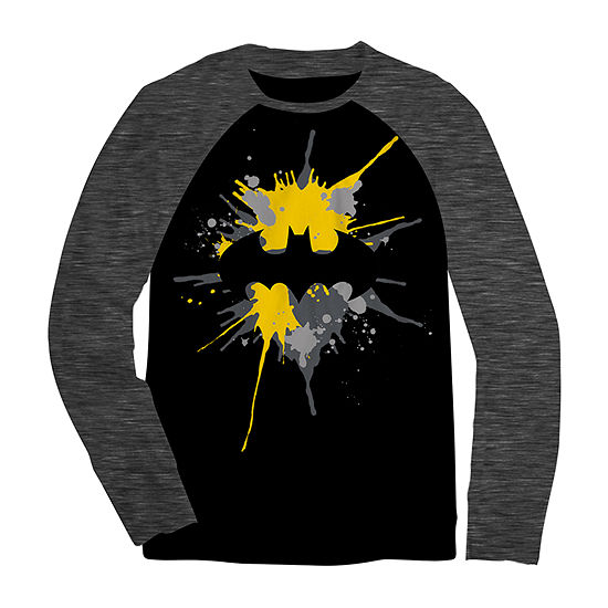 Boys Crew Neck Long Sleeve Batman T-Shirt Preschool / Big Kid