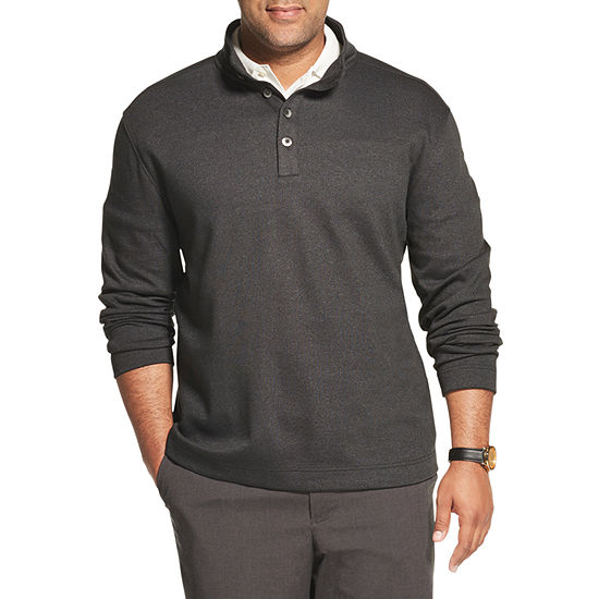 Van Heusen Mens Long Sleeve Mock Neck Top Big and Tall