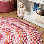 Colonial Mills Happy-Style Braided Round Reversible Indoor/Outdoor Rugs