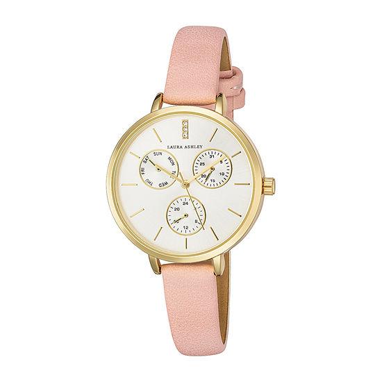 Laura Ashley Womens Pink Strap Watch-La2046yg