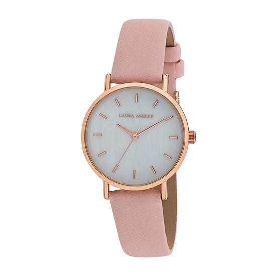 Laura Ashley Womens Pink Strap Watch-La2000pk