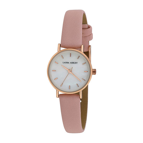 Laura Ashley Womens Pink Strap Watch-La2001pk
