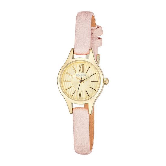 Laura Ashley Womens Pink Strap Watch-La2025yg