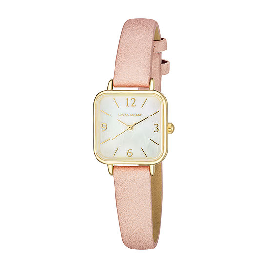 Laura Ashley Womens Pink Strap Watch-La2023pk
