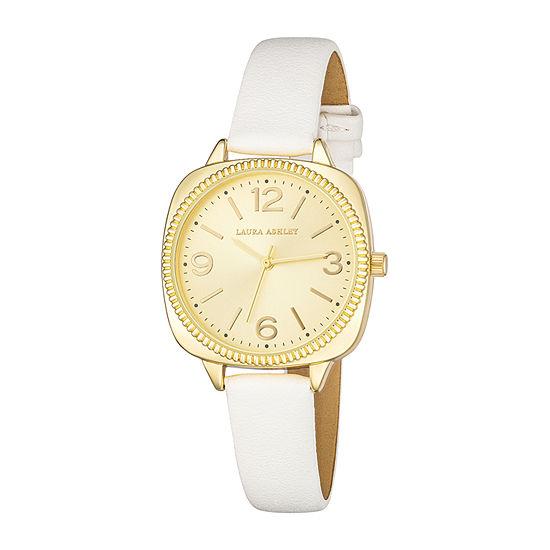 Laura Ashley Womens White Strap Watch-La2026yg