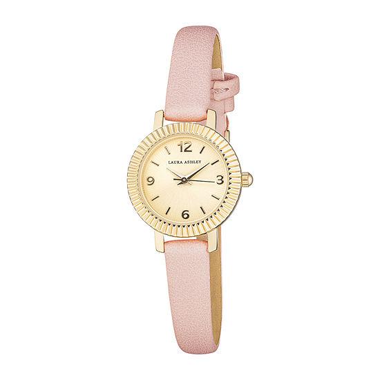 Laura Ashley Womens Pink Strap Watch-La2027yg