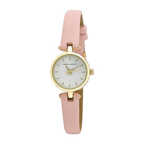 Laura Ashley Womens Pink Strap Watch-La3001yg