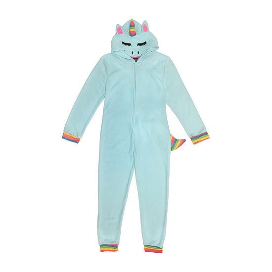 Unicorn Little & Big Unisex Fleece Long Sleeve One Piece Pajama