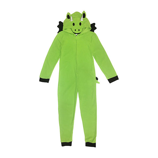 Dragon Little & Big Unisex Fleece Long Sleeve One Piece Pajama