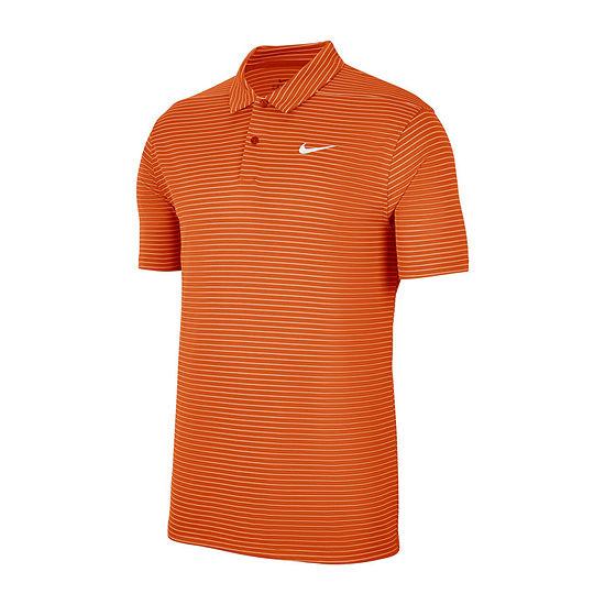 Nike Dri-Fit Essential Striped Mens Short Sleeve Polo Shirt