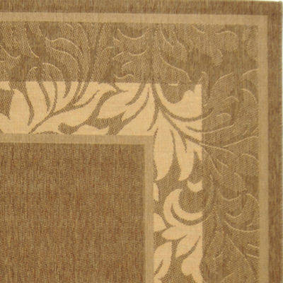 "Courtyard Multi Border Indoor/Outdoor Rectangular Rugs - 5'3""X7'"