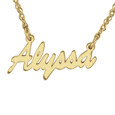 Personalized 14K Gold Over Sterling Silver Name Necklace