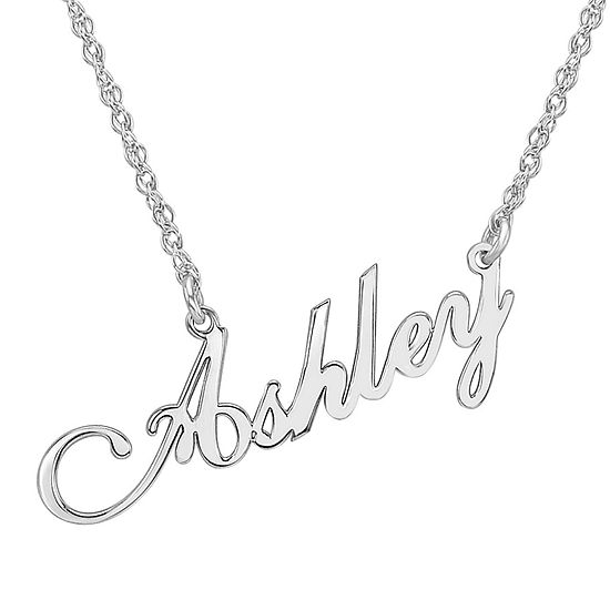 Personalized Sterling Silver Script Name Necklace