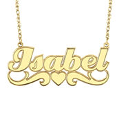 1d1a9a8f589c4e Personalized 14K Gold Over Sterling Silver Name Pendant Necklace