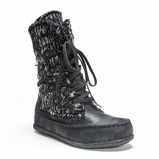 Muk Luks Womens Lilly Lace Up Water Resistant Winter Boots