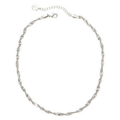 Liz Claiborne® Silver-Tone Textured Twist Necklace