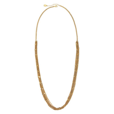 Liz Claiborne® Gold-Tone Multi-Strand Long Necklace