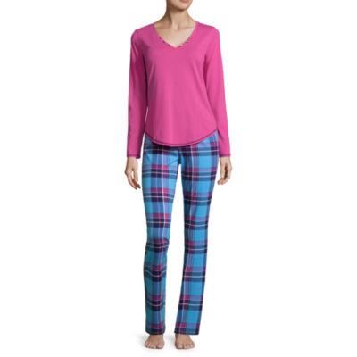 Sleep ChicLong Sleeve Knit Pant Pajama Set