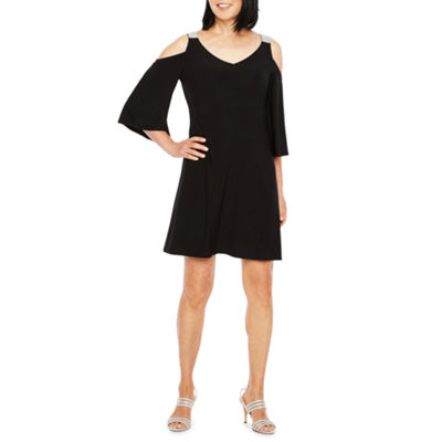 MSK 3/4 Sleeve Cold Shoulder Party Dress