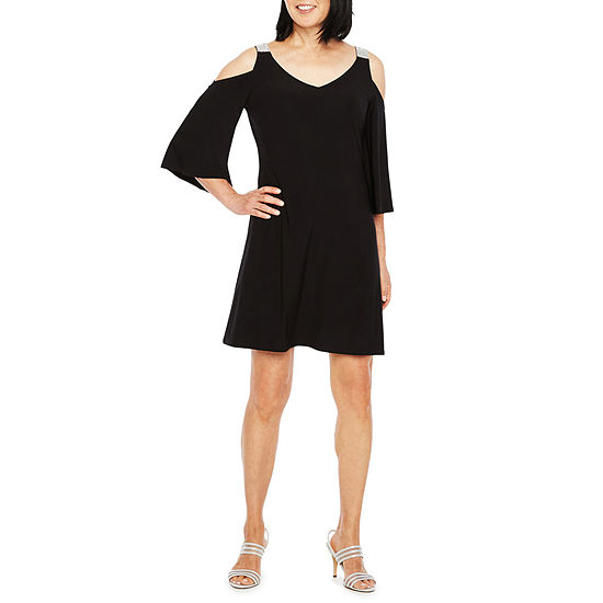 fc4f567b9b9 MSK 3 4 Sleeve Cold Shoulder Party Dress JCPenney